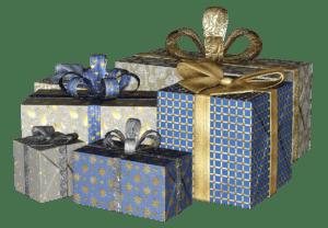 מתנות ארוזות עם סרט