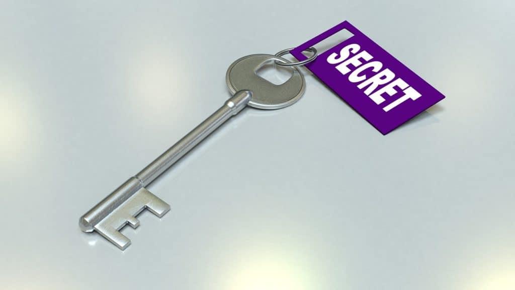 מפתח עם תיוג סודי
